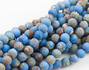 Natural African Opal Sea Sediment Jasper Beads Smooth Round Etsy Jasper Beads Beads Online Sediment