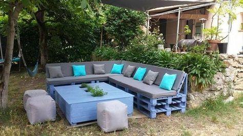 Un Salon De Jardin En Palette Tres Confortable Salon De Jardin