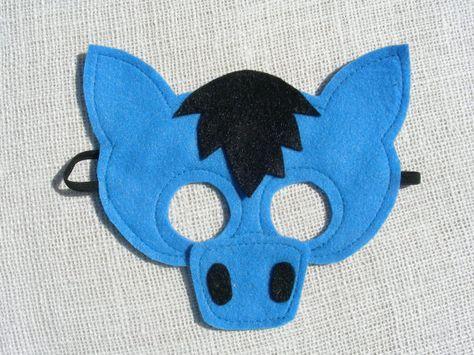 Halloween Bouwplaten.Paardenmmasker Bouwplaten Horse Mask Horse Costumes En