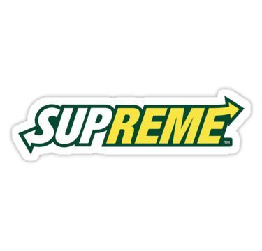 Subway Supreme Logo Mash Sticker Supreme Sticker Supreme Logo Cool Stickers