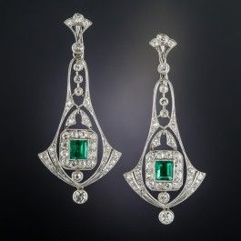 Few If Any Original Art Deco Jewels Come As Fine And Fabulous As These Exquisite Emerald A Art Deco Jewelry Necklace Art Deco Jewelry Rings Art Deco Earrings