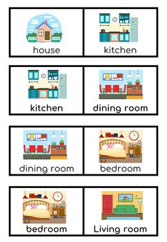 Parts of the House for EFL/ESL Preschool and 1st. Grade students