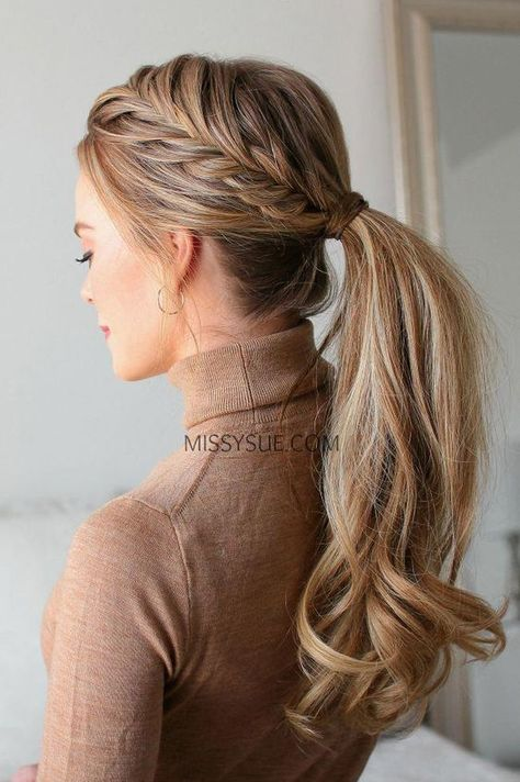 Fishtail French Braid Ponytail Fishtail French Braid Ponytail – Related posts: Fishtail French pigtail ponytail hairstyles hairstyles … 11 Ideen von Fishtail Braid Frisuren Simple braiding for everyday use French Braid Ponytail, Braided Ponytail Hairstyles, Style Hairstyle, Thin Hairstyles, Hairstyle Braid, Hairstyles 2018, French Hairstyles, Teenage Hairstyles, Fishtail Braids