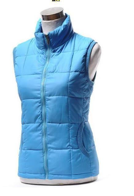 Women Solid Plus Size Fall Winter Thick Down Waistcoat Woman Collar Warm Down Vest Lady Oversized Waistcoat Cotton Warm Vest