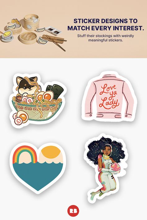 Save 50% on stickers when you buy 10. Weirdly meaningful stickers to match every interest.