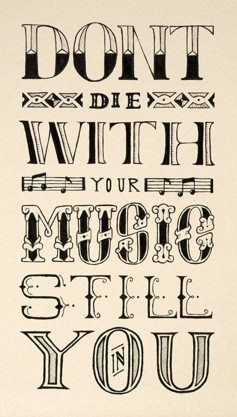 Hand lettered Quote by Ludvig Nevland, via Behance