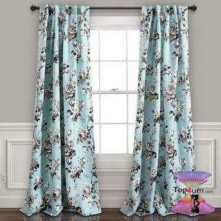 اشكال ستائر مودرن شيك وجديدة بأحدث موضة الستائر للعرسان Modern Curtains 2020 Floral Room Lush Decor Floral Curtains