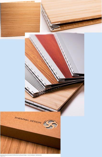 $168 !  http://paperhaus.com/portfolios/shrapnel-design-handmade-wood-screwpost-portfolio-cover-by-shrapnel-design-raquo-11x14-landscape-raquo-solid-bamboo-13431-p-4437