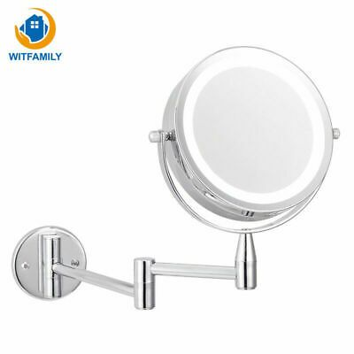 Advertisement Led Makeup Mirror With Led Light Folding Wall Mount Vanity Mirror 10x Magnifying In 2020 Led Makeup Mirror Mirror With Led Lights Folding Walls