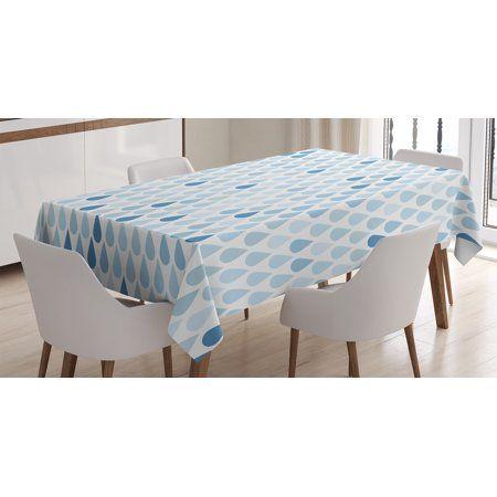 Farmhouse Decor Tablecloth Minimalist Rain Drops Motive Intones Tears Of Earth Air Gravity Image Art Rectan Minimalist Decor Kitchen Tablecloths Kitchen Room