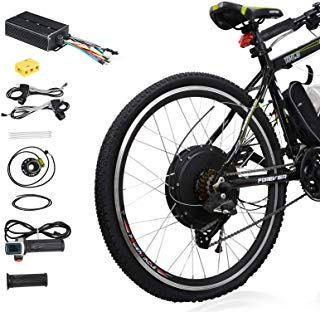 Voilamart 26 Rear Wheel Electric Bicycle Conversion Kit 48v 1500w E Bike Powerful Hub Motor Kit With I Electric Bicycle Conversion Kit Electric Bicycle Ebike