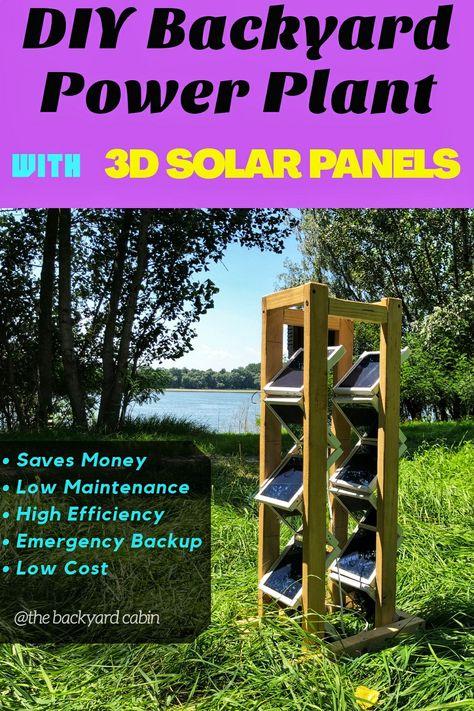 DIY Backyard Power Plant   3D Solar Panel Setup Guide.