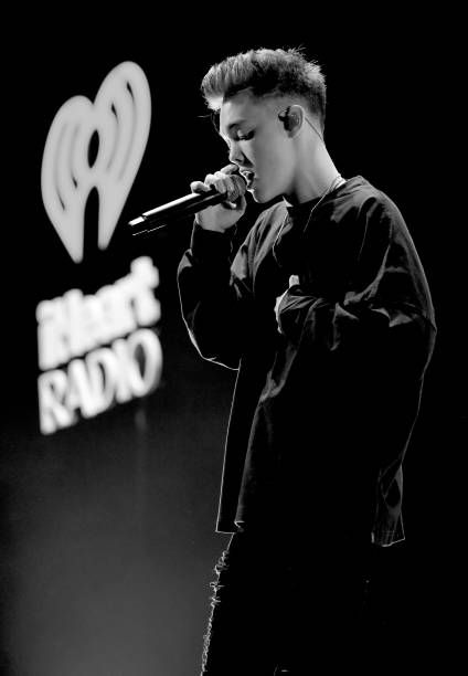 Zach Herron Of Why Don T We Performs Onstage At 1061 Kiss Fm S