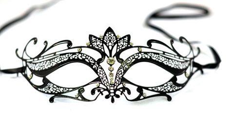 Venetian Style Metal Mask Filigree Masquerade  Diamante Ball Prom Fancy dress.