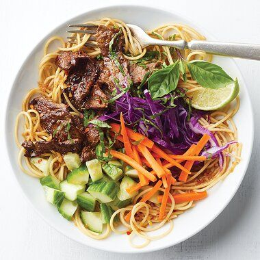 Asian Beef Noodle Bowls Recipe Beef And Noodles Recipes Protein Meal Plan