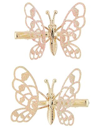her hairstyles will be totally enchanting thanks to our butterfly hair clips for girls these glittery wings are secured on springs for a fluttery effect tha
