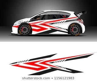 Car decal design vector  Graphic abstract stripe racing