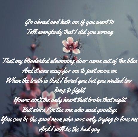 Meghan Patrick The Bad Guy Country Lyrics Bad Guy Deep Thoughts