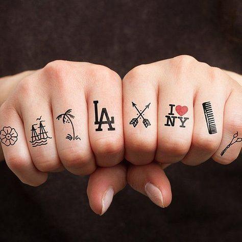 Coast to Coast - Temporary Tattoo (Set of 10) -