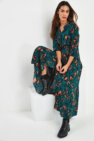Buy Belted Maxi Shirt Dress from the Next UK online shop | Dresses ...