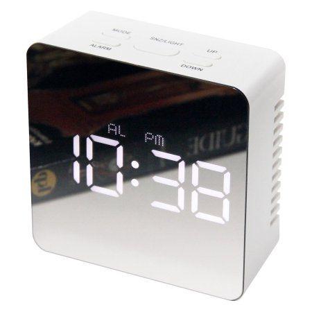 Home White Mantel Clocks Clock Alarm Clock