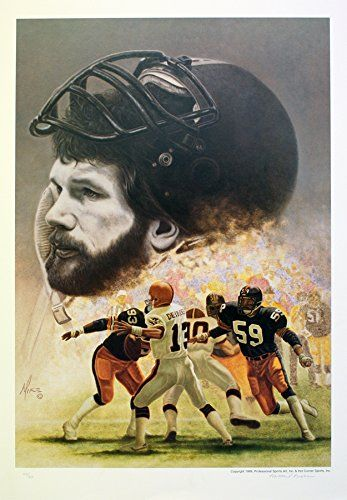 218337dc36f Pittsburgh Steelers Jack Ham Man of Steel 2 Limited Edition Lithograph >>>  Want additional info? Click on the image.