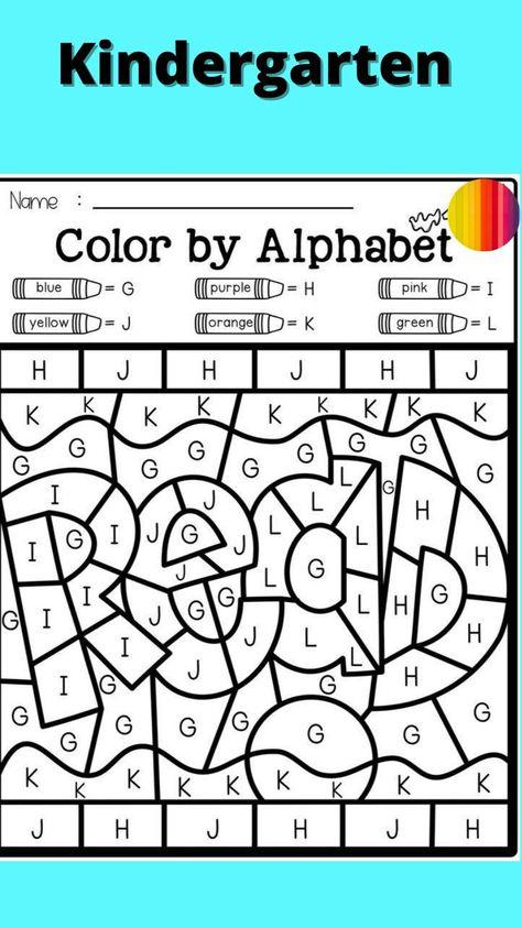 kindergarten worksheets alphabet free printable