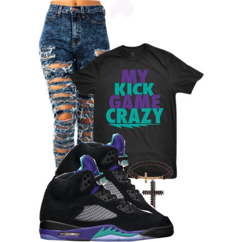"""Untitled #259"" by liloleyannii on Polyvore Cheap Jordan 5 Retro Grape only $ 56, save up to 68% off"