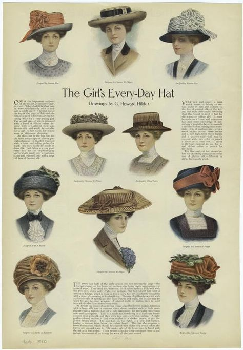 """""""Every-Day Hat"""" From """"Ladies' Home Journal"""" - Published 1910."""