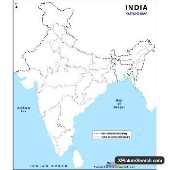 India Political Map India Political Map Outline 2018 Year