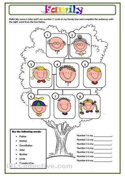 FAMILY worksheet - Free ESL printable worksheets made by teachers: