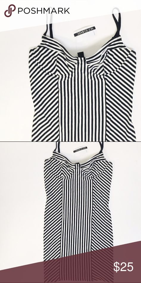 2d056f16b5 Black & White Striped Dress Brand new with tags! Very cute striped dress,  Bodycon Forever 21 Dresses