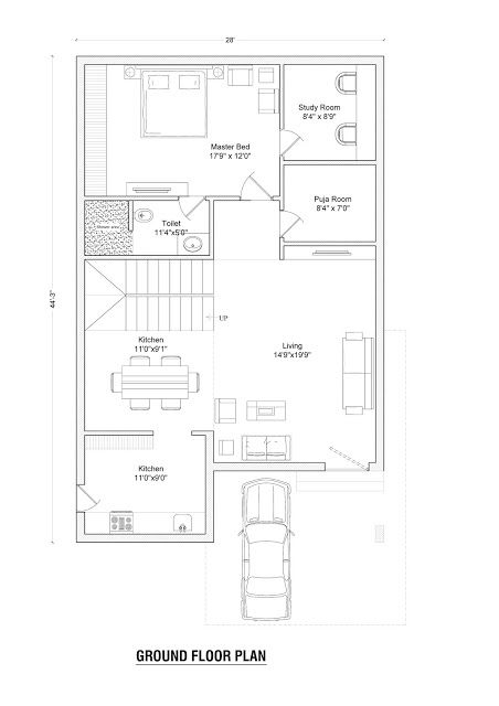 East Face Plan For Interior Layout 30x40 House Plans 20x40 House Plans House Floor Plans