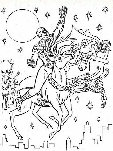 Pin By Garbs On A Imprimer Noel Avengers Coloring Pages Spiderman Christmas Avengers Coloring