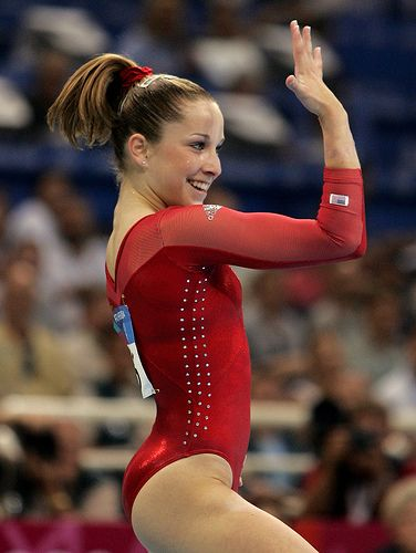 One of my favorite pics of a gymnast ever..when Carly Patterson won the first USA gold in 2004 since Mary Lou retton in 1984.