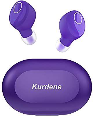 Amazon Com Kurdene Small Wireless Earbuds Bluetooth Earbuds With Charging Case Bass Sounds Ipx8 Waterpr Headphone With Mic Bluetooth Earbuds Sports Headphones
