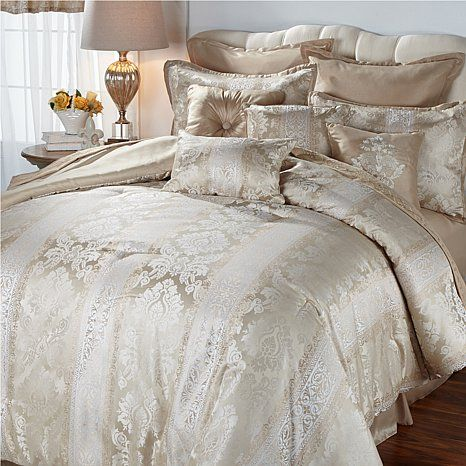 Shop Highgate Manor Vienna 20 Piece Comforter Set Ivory Read Customer Reviews And More At Hsn Com With Images Comforter Sets Comforters Pillow Set