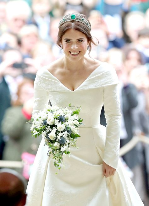 All the Hidden Meanings Behind Princess Eugenie's Wedding Dress Choice
