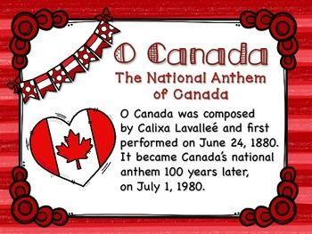 Pin By Sherry Farrand On Canada In 2020 Cloze Activity O Canada Canada