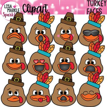 Turkey Clipart Thanksgiving With Emoji Faces Teach Feelings Clip Art Feelings And Emotions