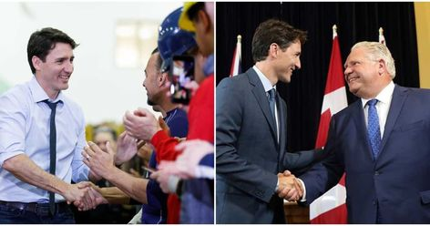 28 Justin Trudeau Instagram Photos That Are Just Him Shaking Hands