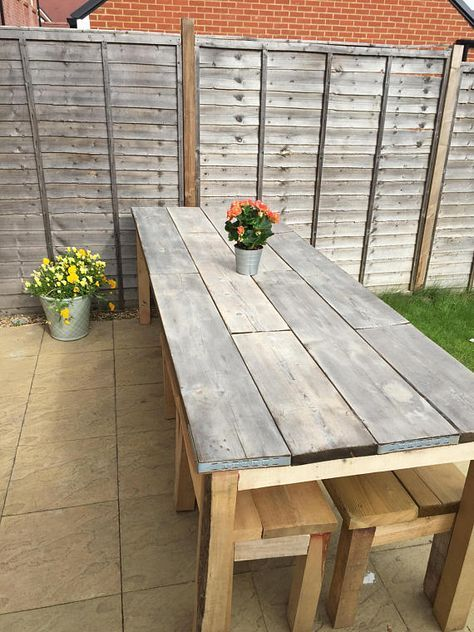 Industrial Table And Benches Scaffold Table Etsy Garden Table Diy Garden Table Scaffold Table