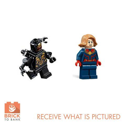 NEW! LEGO Marvel Avengers Endgame 76131 Captain Marvel minifigure