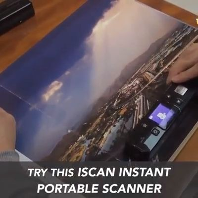 The Instant Portable Scanner allows you to quickly and efficiently scan all important documents and transfer them via USB to any computer. This scanner is completely portable and works from batteries, no wires needed!