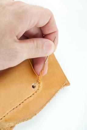 How to sew leather.