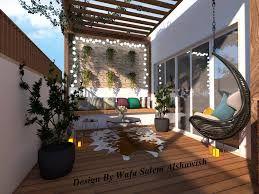 تصميم ملحق مع حديقة سطح Garden Roof تم Arch Wafa Alshawish Outdoor Decor Decor Home