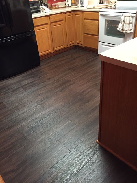 This Homeowner Chose Invincible Luxury Vinyl Plank For Their Kitchen Update The Wood T Luxury Vinyl Flooring Luxury Vinyl Plank Flooring Vinyl Plank Flooring