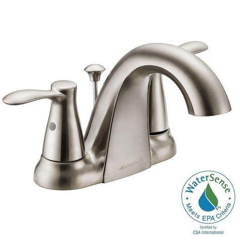 Glacier Bay F51a1074bnv Gable Bathroom Bath Sink Faucet Brushed