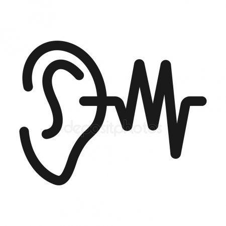 Ear Acoustic Minimal Line Web Icon Simple Vector Illustration Stock Ad Line Web Minimal Ear Ad Line Web Web Icons P Logo Design