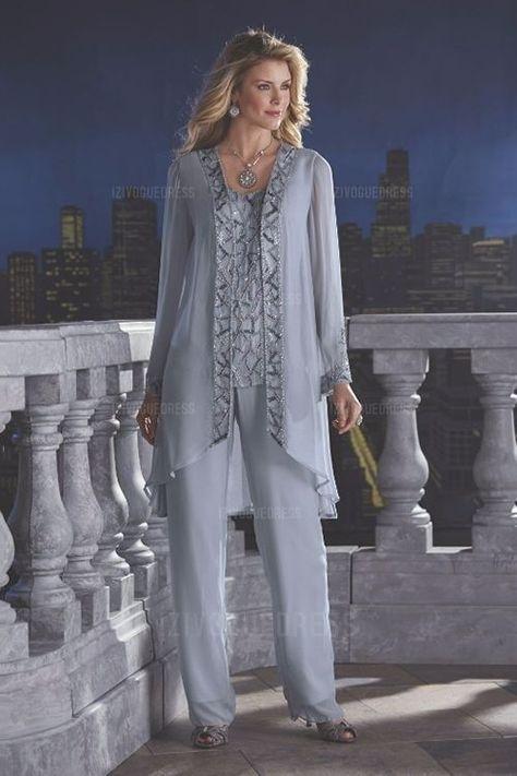 Ladies plus size formal pant suit | Wedding outfits | Pinterest ...